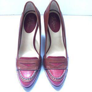 Cole Haan Nike Air Heels Brown/Red Size 7B